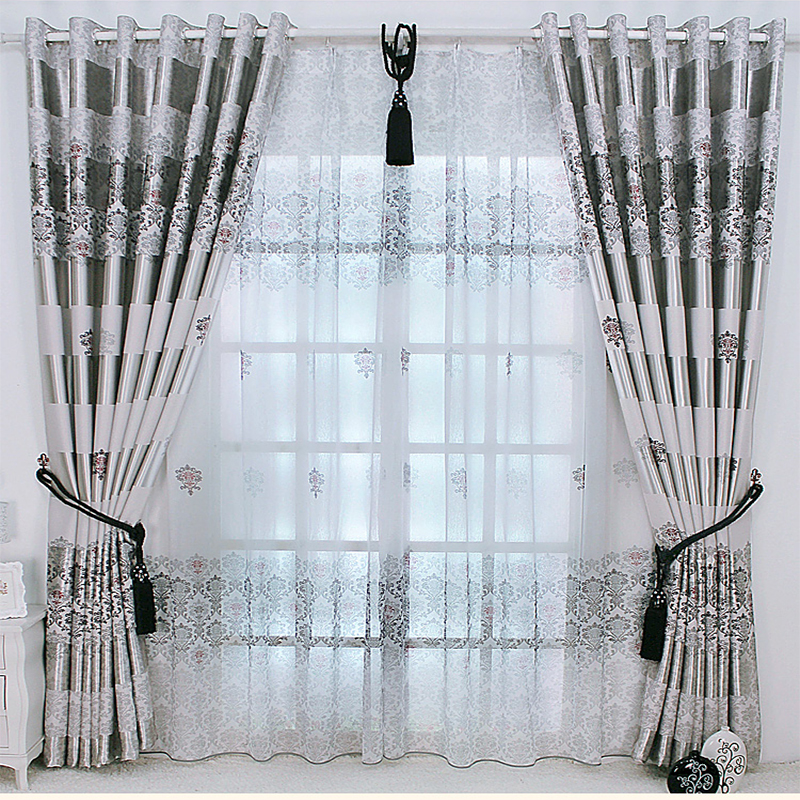 New Arrival Exquisite Luxury Curtains for Living Room Window Treatments Blackout Curtain Tulle for Bedroom Noble Drapes Sheer(China)
