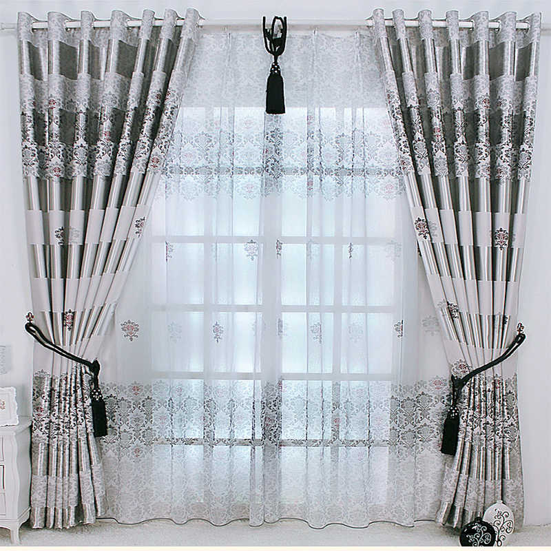 New Arrival Exquisite Luxury Curtains for Living Room Window Treatments Blackout Curtain Tulle for Bedroom Noble Drapes Sheer