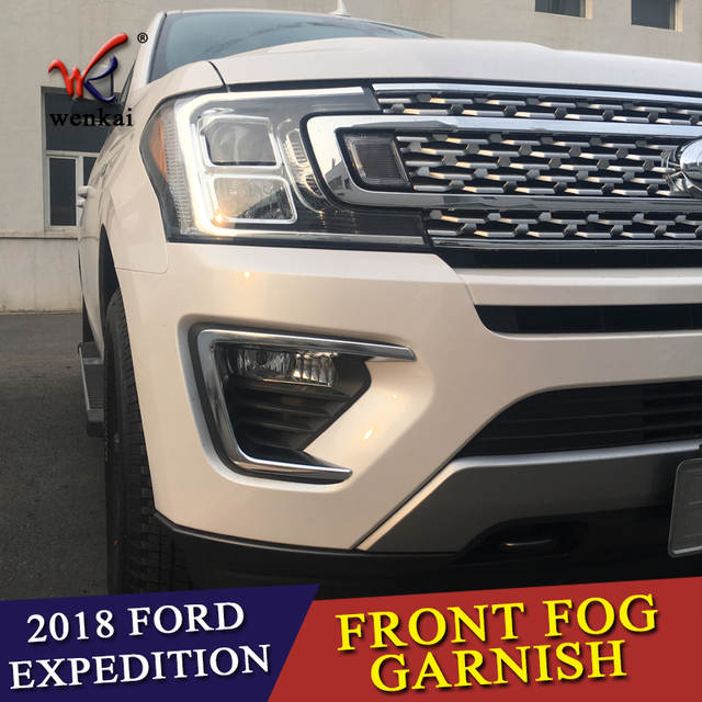 US $68 7 20% OFF|Fit For Ford Expedition 2018 2019 ABS Chrome Front Fog  Light Lamp Cover Trim Chromium Foglight Bezel Styling Decoration 2Pcs-in