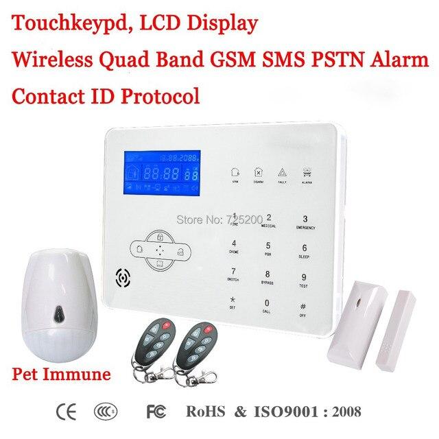 Французский/Испанский/английский голосовые подсказки Беспроводной GSM SMS PSTN охранной сигнализации Системы ST-IIIB с домашним животным иммунной...