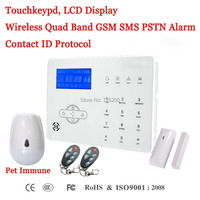 Focus Wireless GSM SMS PSTN Anti Thief Alarm System With Pet Immune PIR Sensor Free Shipping