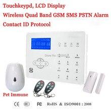 Francuski/hiszpański/angielski Voice Prompt bezprzewodowy GSM SMS PSTN Alarm włamaniowy systemu ST IIIB z zwierzęta immunologicznego czujnik PIR i drzwi czujnik