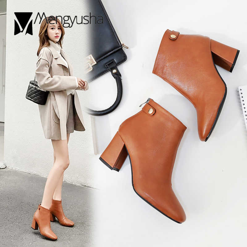 suede patchwork high heel ankle boots women spring autumn