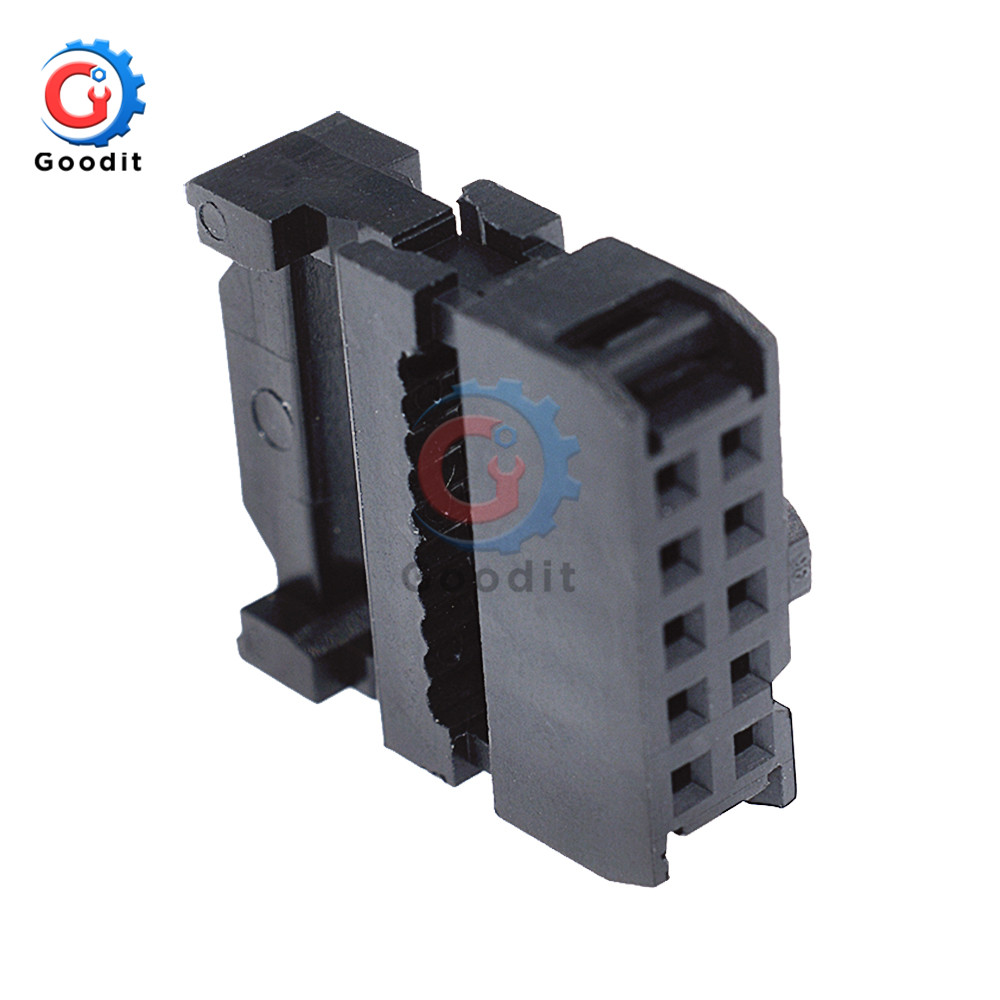 10PCS FC-10 IDC 2.54 mm Connector Female Header 10 PIN 2x5 New