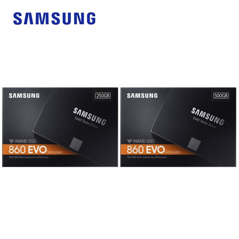 Samsung 860 EVO SSD 250GB 500GB 1TB Internal Solid State Disk HDD Hard Drive SATA3 2.5 inch Laptop Desktop PC Disk HD SSD