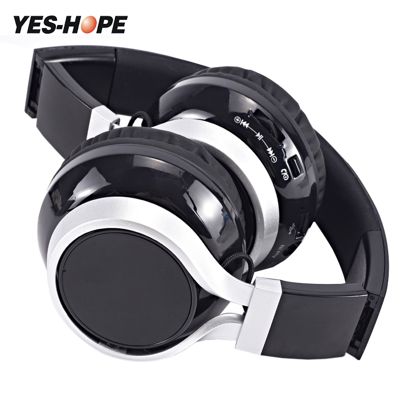 YES-HOPE Wireless Headphones Bluetooth Headset  Stereo foldable Sport Earphone Microphone Gaming Cordless Auriculares Audifonos hestia ex 01 bluetooth earphone car headphones with microphone auriculares wireless stereo headset audifonos for iphone 6 7 sony