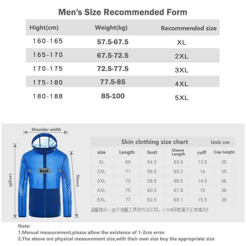 男性軽量太陽保護ハイキングジャケット速乾性抗 Uv アウトドアスポーツコートソフト通気性の男性のウインドブレーカー