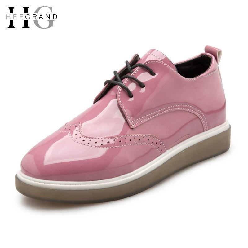 Hee grand brogue zapatos de plataforma mujer 2017 estilo británico oxfords con c