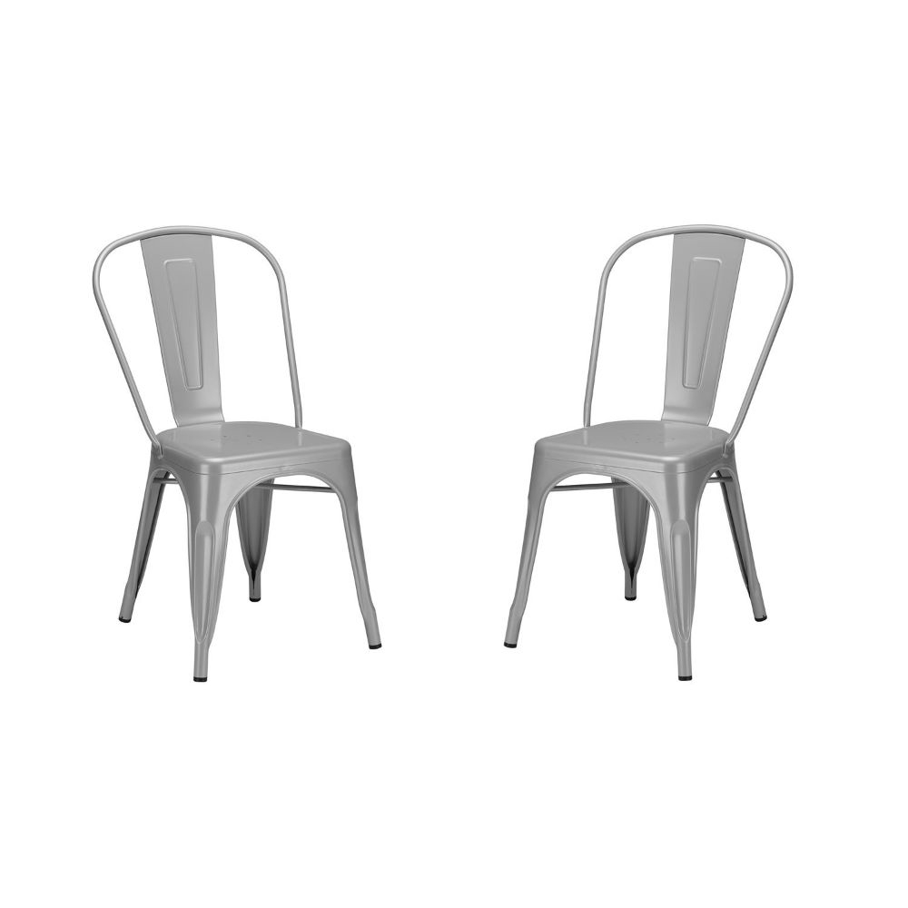 Trattoria Side Chair in Grey (Set of 2) sexy tease swimwears set in grey