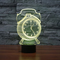 Touch Clock 3D Colorful Lights Night Light Strange New Stereoscopic 3D Visual Illusion Desk Lamp LED Holiday Light Mood Light