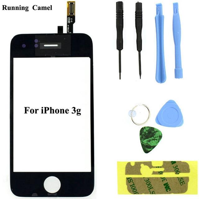 Koşu deve için dokunmatik ekran Digitizer değiştirme Apple iPhone 3g 3G ücretsiz onarım araçları