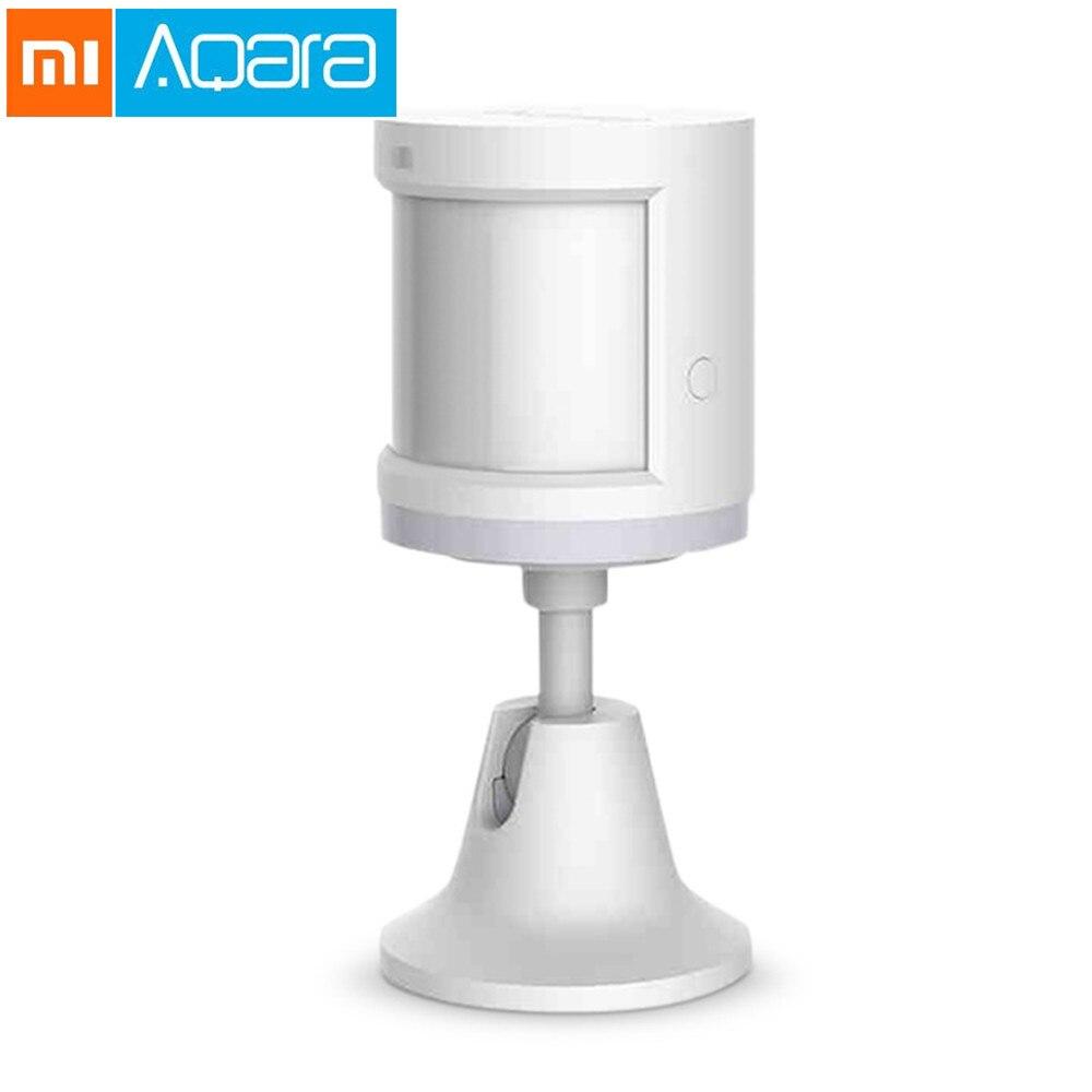 Nuevo Sensor de cuerpo humano Xiaomi Aqara Sensor de movimiento de cuerpo inteligente Zigbee conexión Mihome aplicación a través de Android IOS