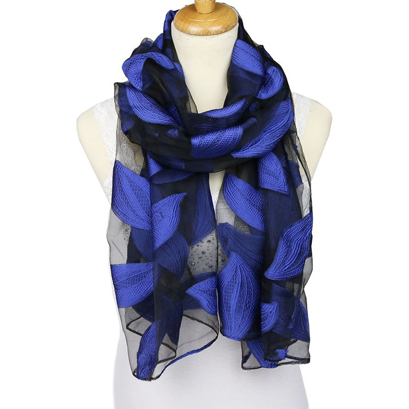Fashion Summer Silk   Scarf   Soft Shimmery Versatile Shawl   Wraps   for Woman Sunscreen Foulard No Winkle   Scarves   S9076