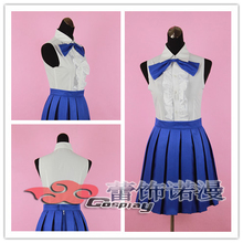 Free shipping!!! Custom made Fairy tail YiLouSha shu card leto Lucy  cosplay costume any size
