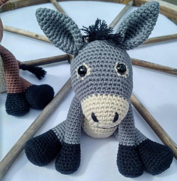 Crochet Armigurumi Rattle  Donkey  Model Number 86