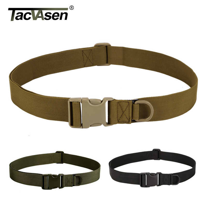 TACVASEN Men Tactical Belt Equipment Nylon Bag Deputy Military Fans Belt Fastening Tape Brand Belt For Men BJDN-060