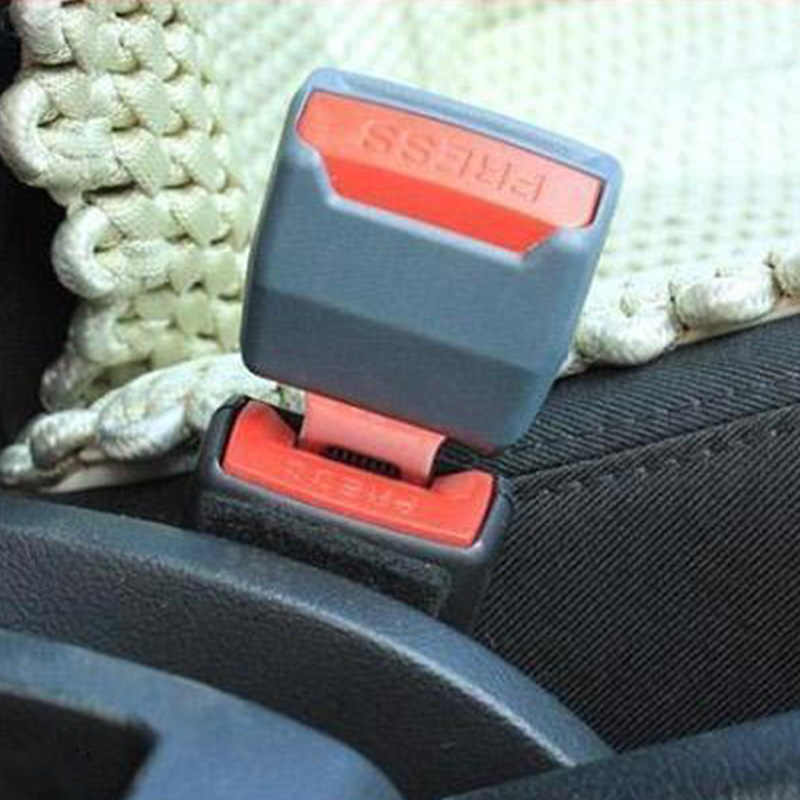 2 ชิ้น/ล็อตปรับรถ Universal Seat Belt Clip Buckle Socket Safety Seat Belt Extender Extension Professional P25