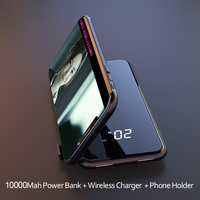2019 10000mAh External Battery Wireless Charger Power Bank Double USB Digital Display Powerbank For iPhone Xiaomi Poverbank