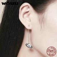 Aliexpress Wholesale Luxury 100 925 Sterling Silver Planet Long Drop Earrings For Women Fashion Jewelry Gift