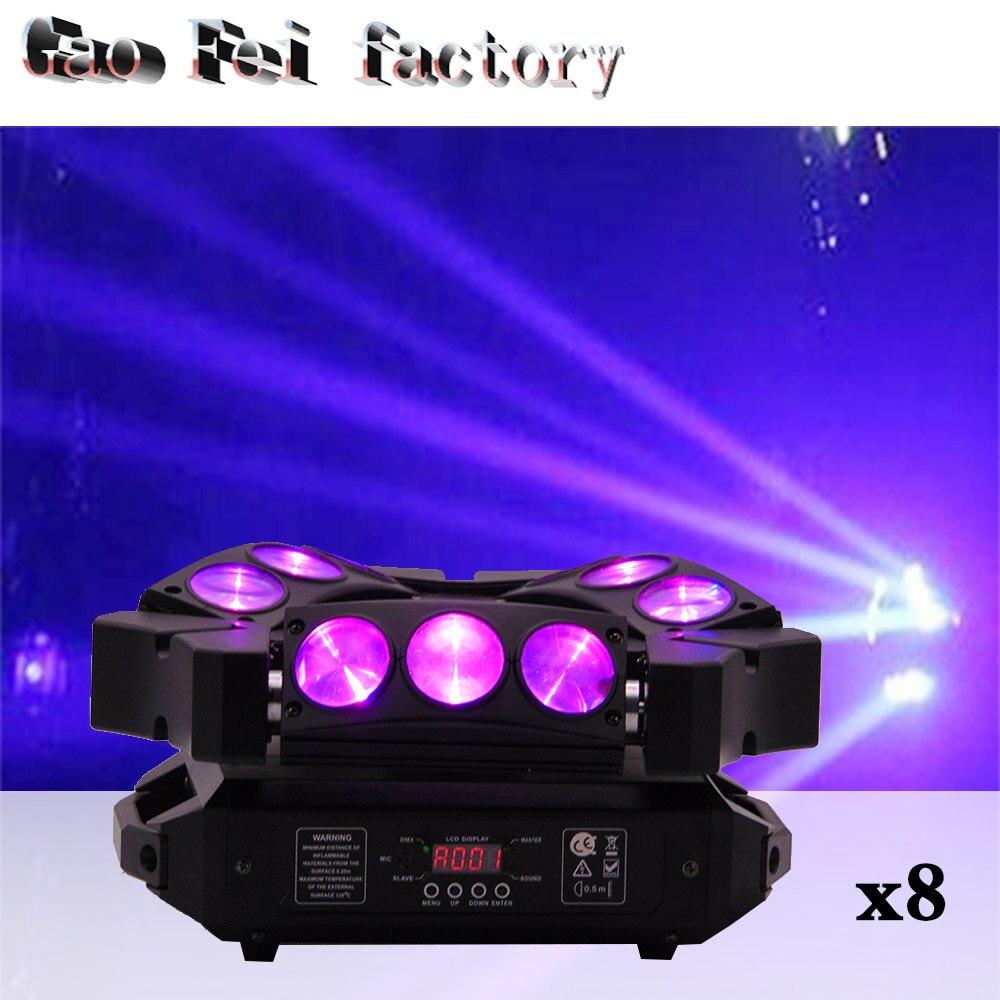 8pcs/lot 9 Eyes Pixel 9X10W 4 IN 1 DMX Spider effect light Led Beam Moving Head8pcs/lot 9 Eyes Pixel 9X10W 4 IN 1 DMX Spider effect light Led Beam Moving Head