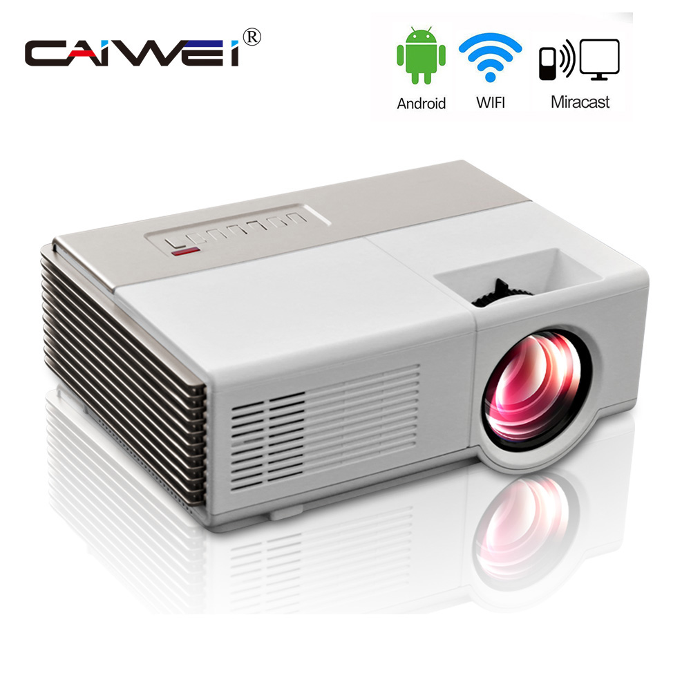 H60 Portable 3d Led Projector Lcd Multimedia Home Cinema: CAIWEI Portable Projector Wifi Android Portable Lcd Led