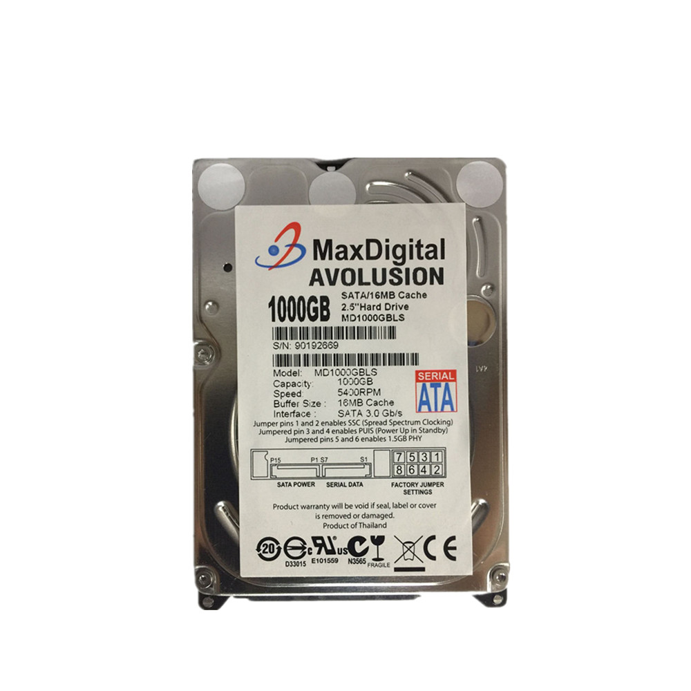 1000 GB SATA 2.5 pouces 15 MM hauteur HDD pour PC tour/serveur/mini-itx/bureau/Machine garantie pour 1 an