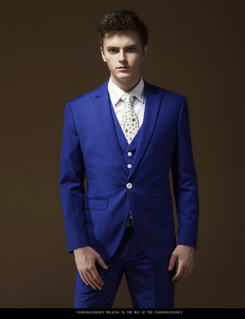 Aliexpress.com : Buy Slim fit Royal Blue Tuxedo Wedding Suit Groom
