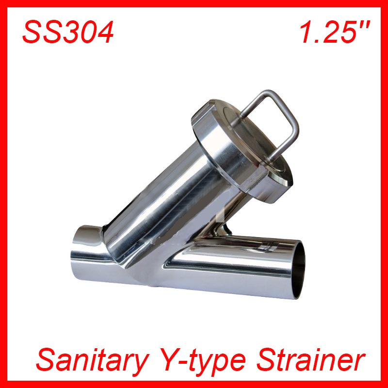 1.25'' Sanitary Stainless Steel SS304 Y type Filter Strainer f Beer/ dairy/ pharmaceutical/beverag /chemical industry sanitary 1 5in od 50 5mm tri clamp y type filter ss304 stainless steel y strainer
