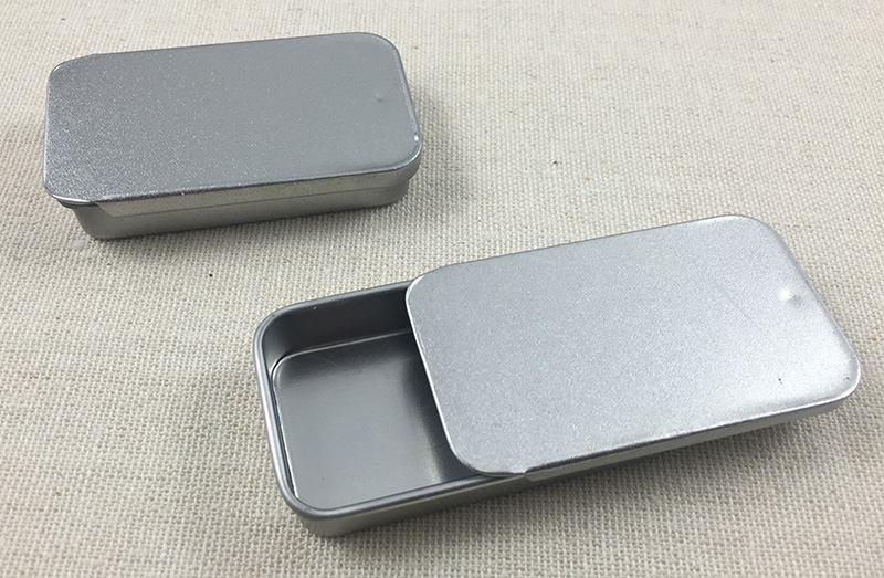 100pcs lot Blank Metal Tin Box Survival Kit Containers storage box pill box sliver color free
