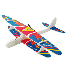 2019 Foam Aircraft Capacitor Electric Glider Model Plane Hand Launch Throwing Kid Baby Outdoor Games Fun Toys 28*30CM