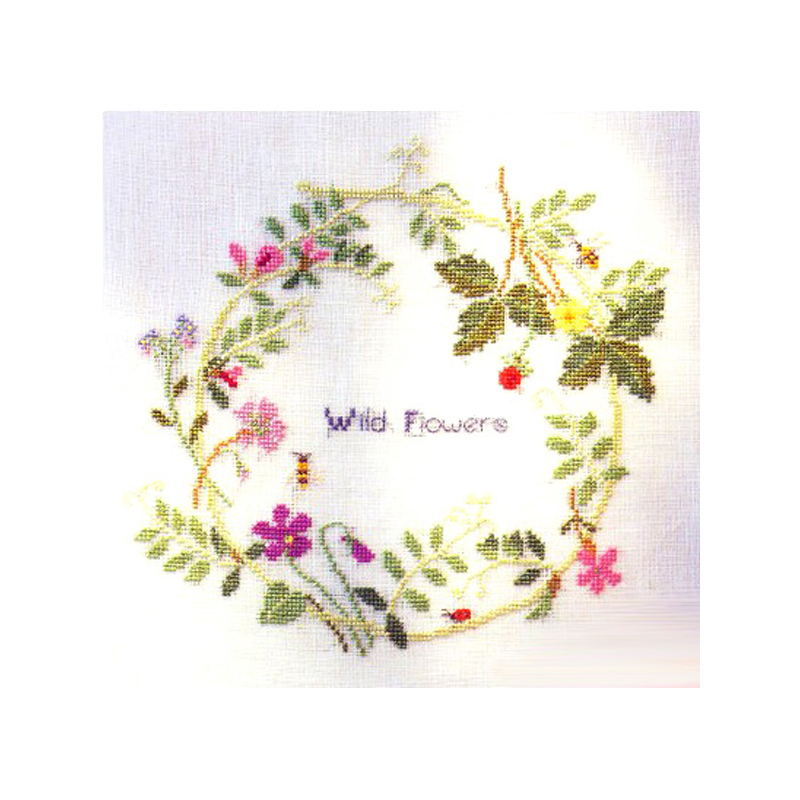 ᐊPatrones de flores hilo contados cross stitch 14ct DMC Cruz ...