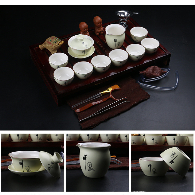 Chinese Kung Fu <font><b>Tea</b></font> Set Drinkware Purple Clay ceramic Binglie <font><b>three</b></font> options include <font><b>Tea</b></font> pot <font><b>Cup</b></font>,Tureen Infuser <font><b>Tea</b></font> Tray Chahai