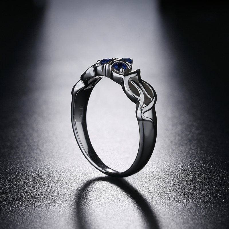Image 4 - The Legend of Zelda Crystal 925 Sterling Silver Zora Zoras Sapphire Ocarina of Time Engagement RingRings