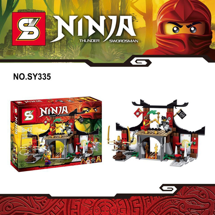 SY335 Ninjago Duel Ninjutsu Driving Range Bricks Toy Ninja Minifigures Kids Educational Toys Compatible LEGO  -  MU&Co. store