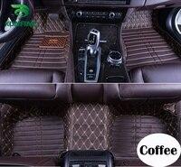 Top Quality 3D Car Floor Mat for Audi Q7 Foot Mat Car Foot Pad Black Coffee Beige Brown Left Hand Driver Carpet