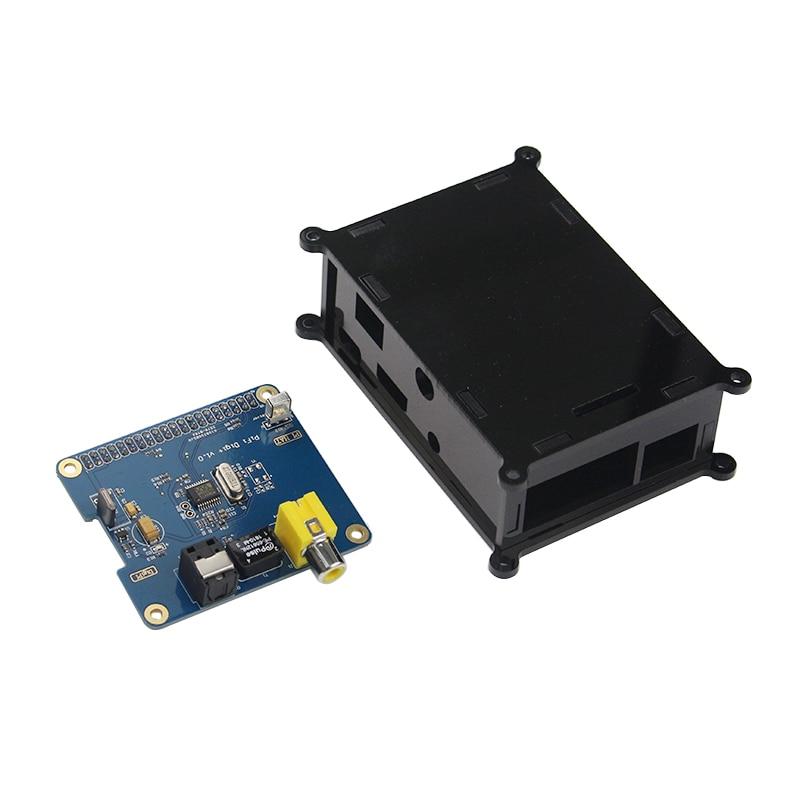 Raspberry Pi 3 Digital Sound Card HiFi PiFi Digi+ V1.0  GPIO Audio Board + Acrylic Case For Raspberry Pi 3 Model B+/B 2B