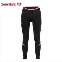 Santic Winter Cycling Pants 2017 Women Thermal Padded Long Pants Winter 4D Cushion Pad Reflective Mtb