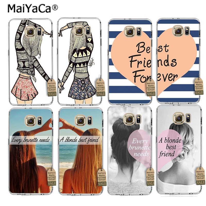 MaiYaCa Best Friends BFF two girls Couple Soft Transparent TPU Phone Case For Samsung Ga ...