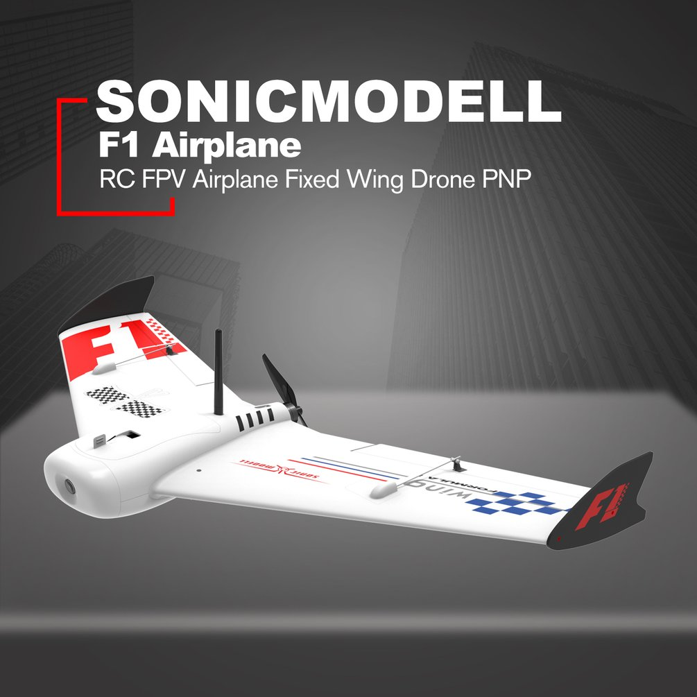 ZOHD SonicModell F1 833mm EPP Wingspan RC FPV Airplane Fixed Wing Glider Drone Plane with 190kmh High Speed KIT PNP Version