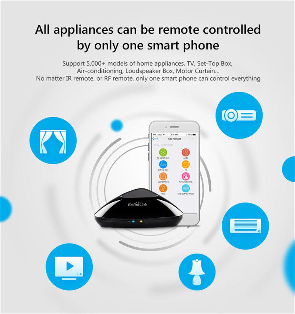 Broadlink Smart Home Rm Pro Wifi Ir Rf Remote Control Sc1 Onoff Switch Plug Android Ios Voice Controller Work For Alexa In