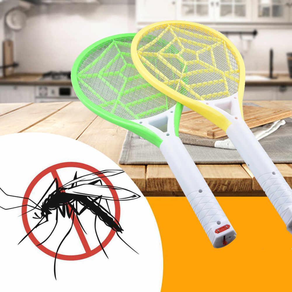 Перезаряжаемый СВЕТОДИОДНЫЙ Электрический мухобойный мухобойка Жук Zapper ракетка насекомое избавление от ОСА мухобойка ОСА Лето 2018