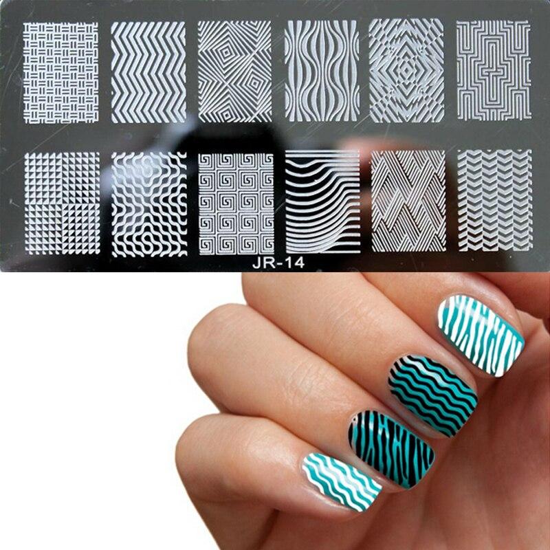1pcs Noi modele de design Nail Art Placi de ștanțare Manichiură - Manichiură