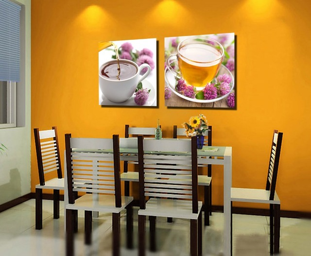 2 Piece Canvas Wall Art Painting For Dining Room Restaurant Decor Supply Picture Home