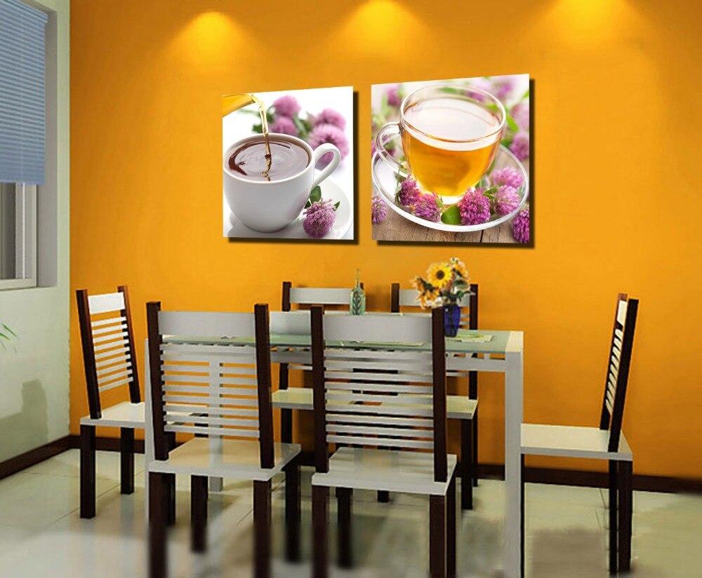 € 17.83 15% de DESCUENTO|2 unidades lona pared arte lienzo pintura para  comedor restaurante decoración de pared decoración del hogar-in Pintura y  ...