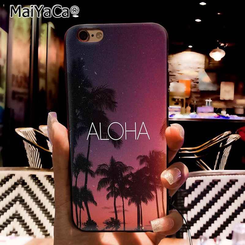 MaiYaCa estrelas do mar da praia do verão céu azul Caso de Telefone Para O iphone 11 Pro 11Pro Max 8 7 6 6S Plus 5 5S SE XR X XS MAX