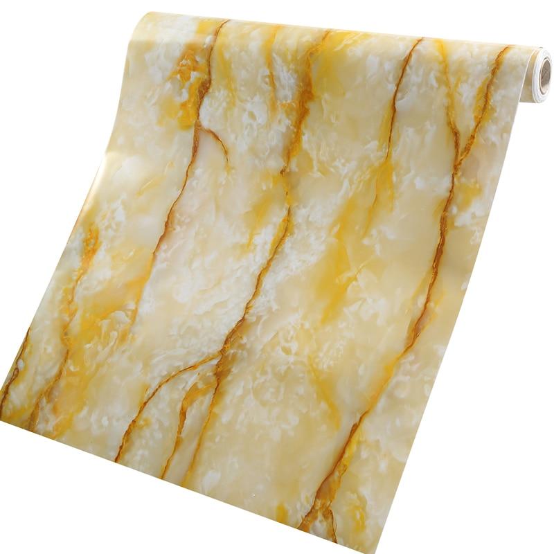 Dependable Bowaterproof Wallpapers Pvc Film Marble Wallpaper Desks Furniture Waterproof Wardrobe Cabinet Printed Mould Proof Wallpapers