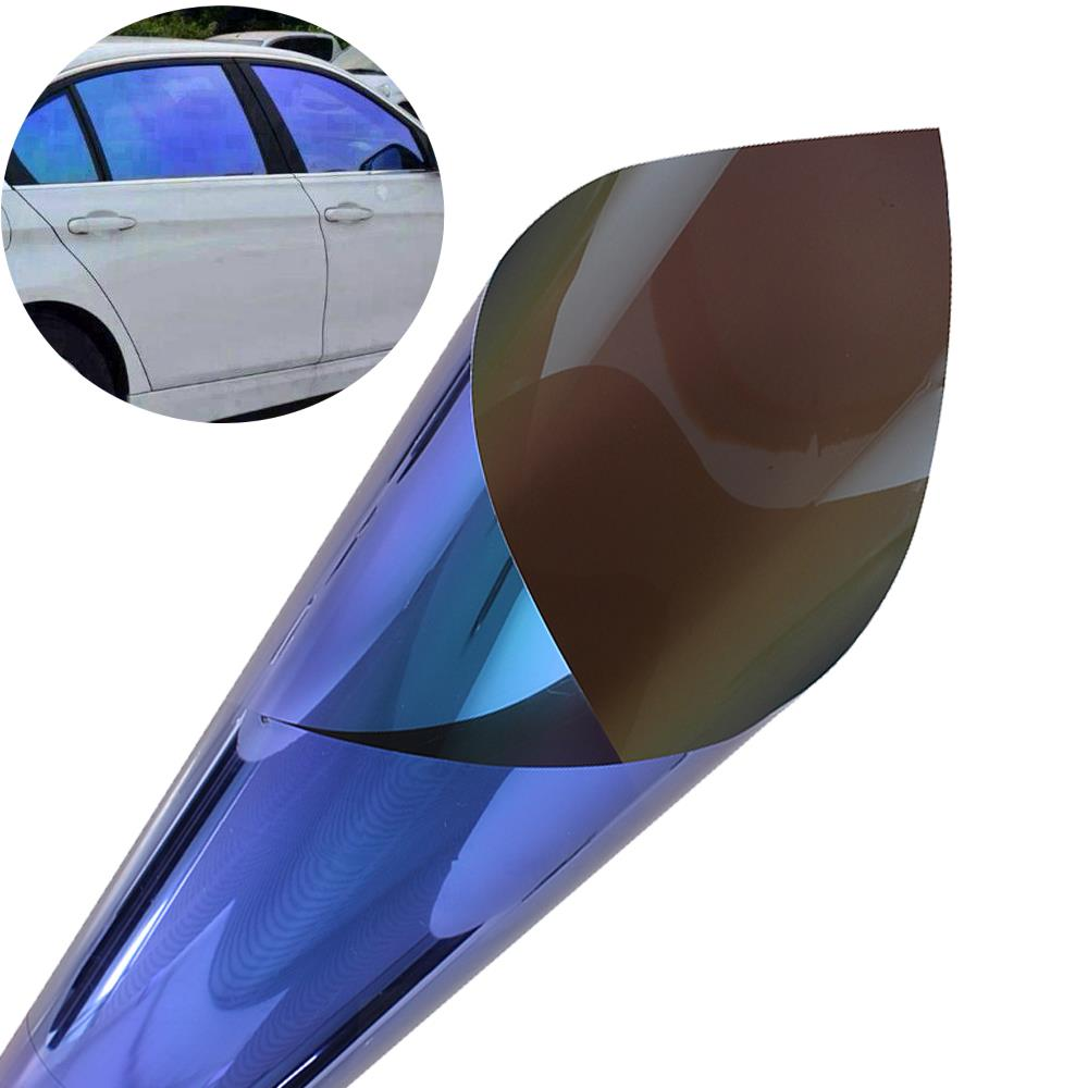 50*300cm Shiny Chameleon Car Window Film Turned Change Color Car Window Tint Sticker Foil Solar Protection Car Styling