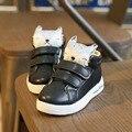 2016 Autumn Winter Sneakers for Kids Girls Boys Cute Cartoon Design Hook Loop Casual Shoes Children Fashion Sneaker Boots