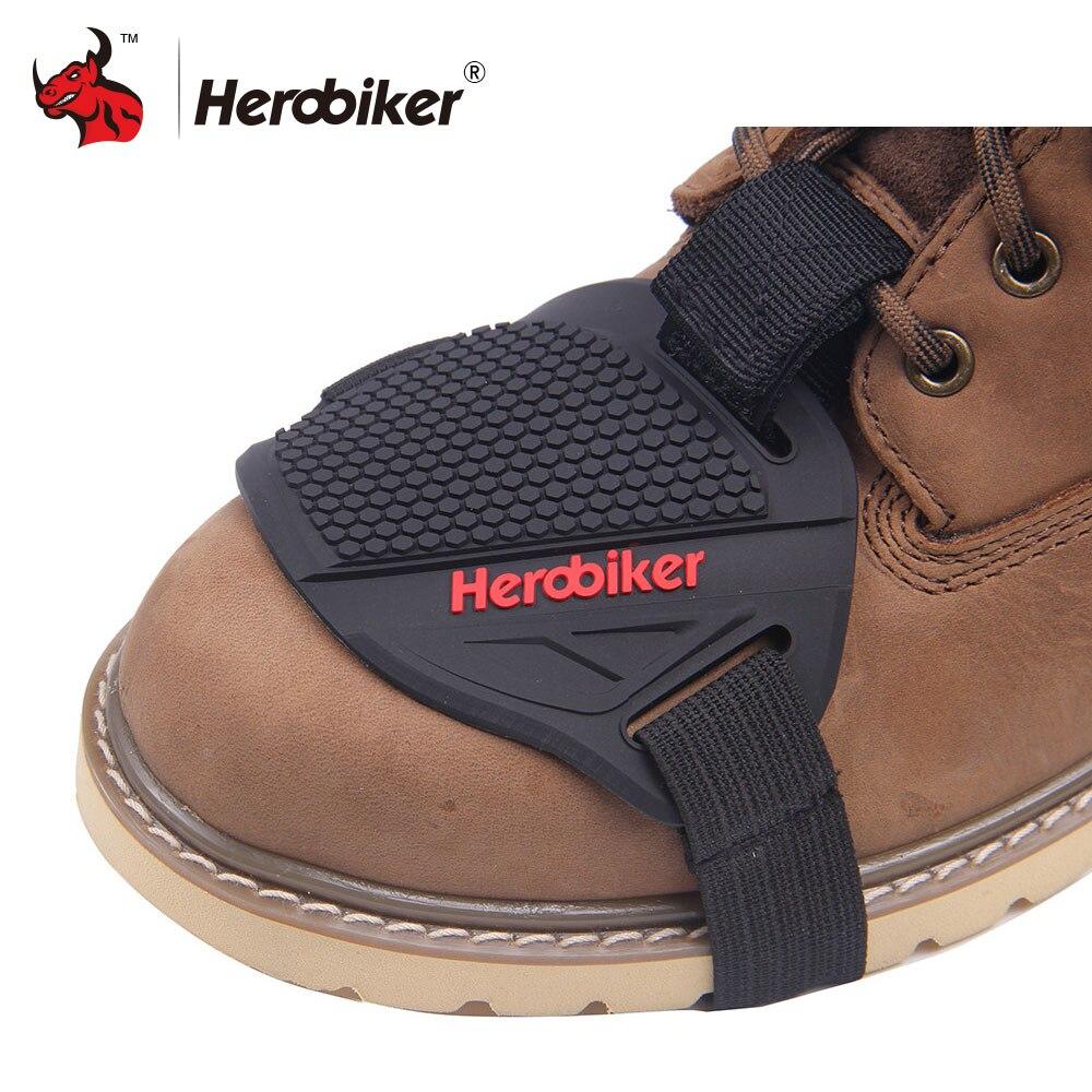 HEROBIKER Più Forte di Gomma Motorcycle Gear Shifter Stivali Scarpa Protector Maiusc Calzino Moto Copristivale Equipaggiamento Protettivo