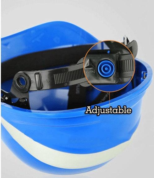 Güvenlik Kask Sert Şapka Çalışma Kapağı ABS Fosfor Şerit - Güvenlik ve Koruma - Fotoğraf 4